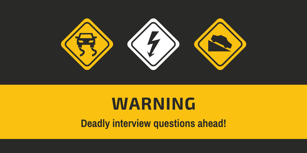 warning interview questions road signs