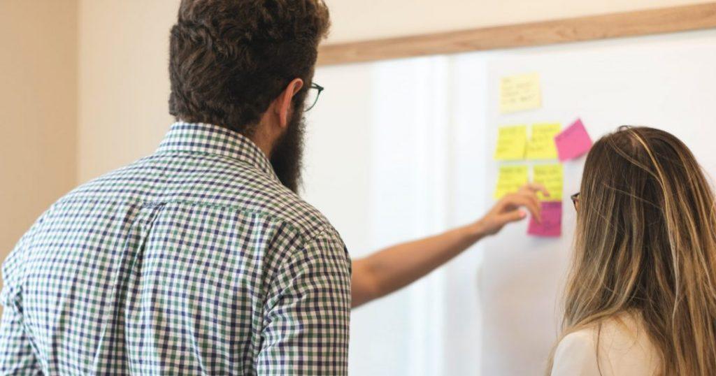 international team benefits people whiteboard